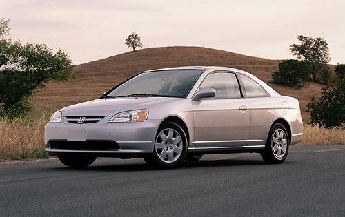 Equipamento De Honda Civic Coupé. De 2001 Até 2003